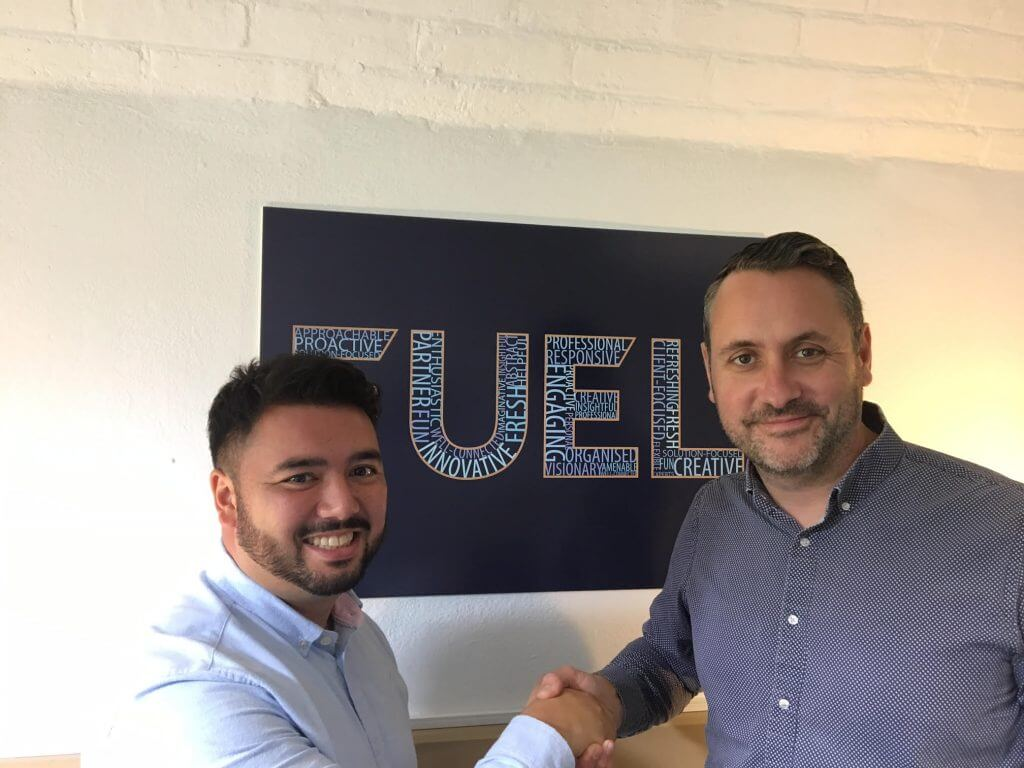 Seve Shaking Hands With Martyn - Fuel Communications Now Offers Affiliate Marketing Service Article Banner Image